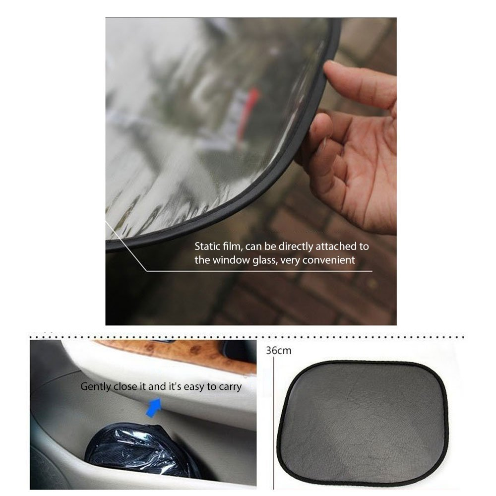 Car Sun Shades Leegoal 5 Pack 98/% UV Rays Blocker Car Side Rear Window Sunshades Screen Protector Fits Most Cars SUVs for Babies//Children//Families//Pets