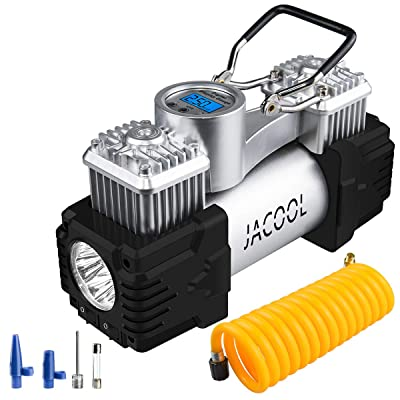 JACOOL Tire Inflator Air Compressor 12V Portable Air Pump 150 PSI Digital Heavy Duty Auto Tire Air Pump for Car Tires, Motorcycle, Bicycles and Other Inflatables: Automotive