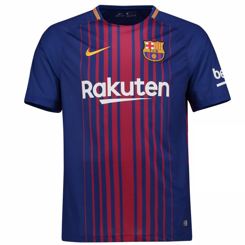 c8f67d4aa Amazon.com : 2017-2018 Barcelona Home Football Soccer T-Shirt Jersey ( Ronaldinho 10) - Kids : Clothing