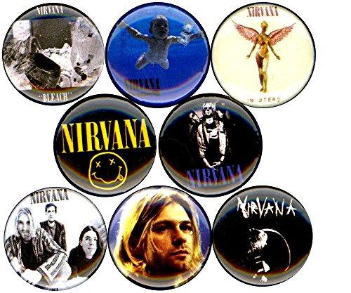 Nirvana 8 NEW buttons pins badges kurt cobain grunge seattle