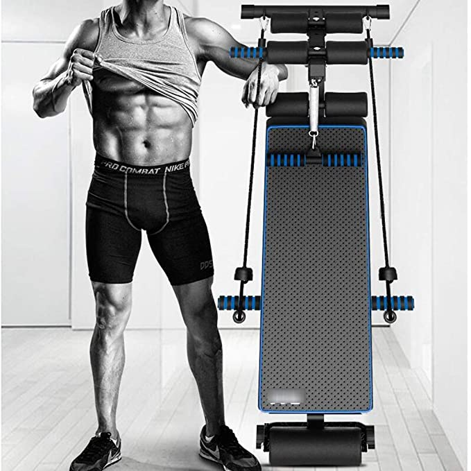 Máquina del abdomen del banco de la pesa de gimnasia equipo de la aptitud de las sentadillas equipo de la aptitud del ejercicio de la tabla supina casera, ...