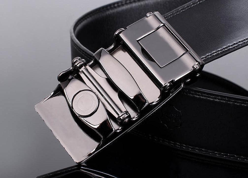 XILALU Men Leather Automatic Buckle Belts Fashion Waist Strap Belt Waistband