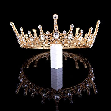 Prom Rhinestone Crystal Crown Queens Crown Tiara Weddings Rhinestone Crown Tiara Dress Up /& More! Silver Rhinestone Crown Costume