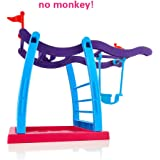 Jungle Gym for Fingerlings Baby Monkey, Jimps Finger Monkey Swing Stand / Bar / Playground, Interactive Baby Monkey Playset For Fingerlings Monkey Toy (Without Monkey)