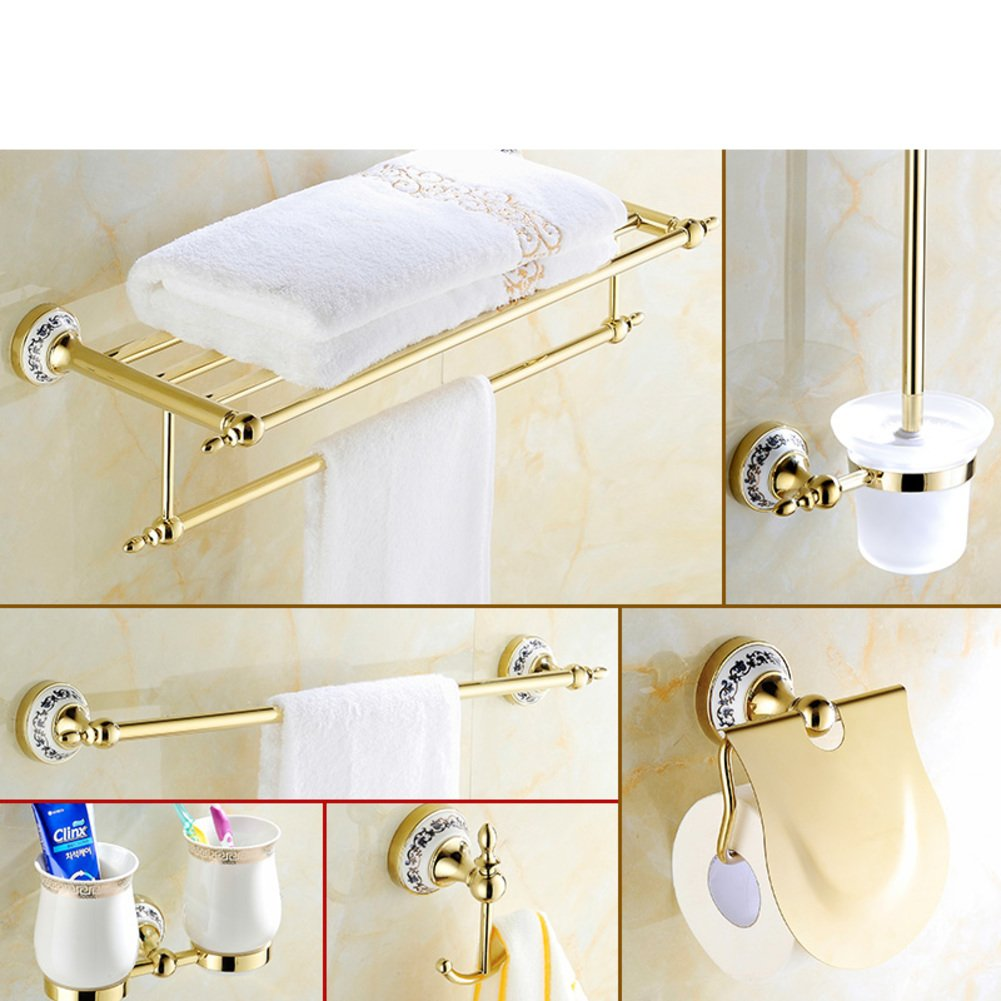 85%OFF Golden Towel rack/Gold-plated stainless steel European style ...