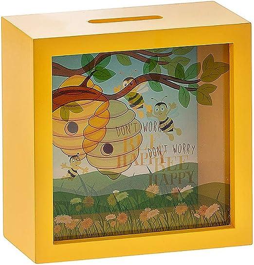The Leonardo Collection Abeja Feliz - Caja Marco Caja de Dinero: Amazon.es: Hogar