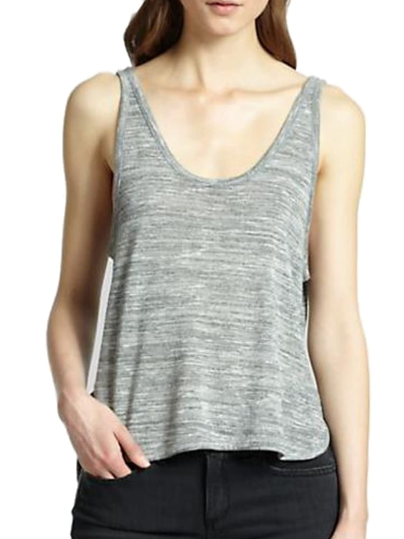 Rag & Bone Women's Jean Prema Space Dye Pima Tank Light Grey