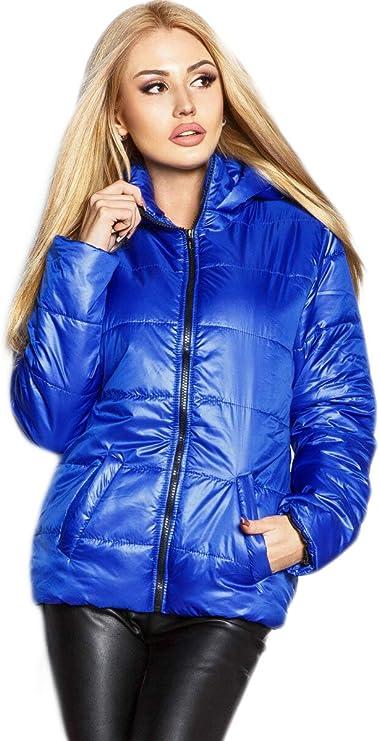 Selente #Fashionista damska kurtka jako praktyczna kurtka przejściowa/lekka kurtka zimowa/krÓtka kurtka pikowana w modnym wzornictwie, idealna na wiosnę i jesień: Odzież