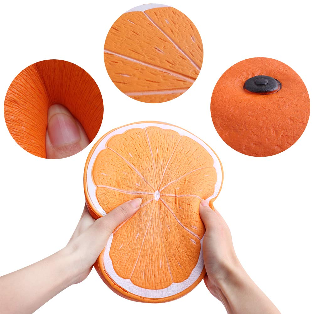Outee 10 Inch Jumbo Orange Squishy Big Slow Rising Orange Squishies Scented Kawaii Stress Relief Squishy Squeeze Toys for Kids Adults by Outee (Image #7)