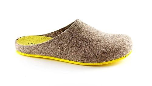 Grünland EURO CB0539 topo zapatillas amarillas mujer se sintió verdadera lana: Amazon.es: Zapatos y complementos