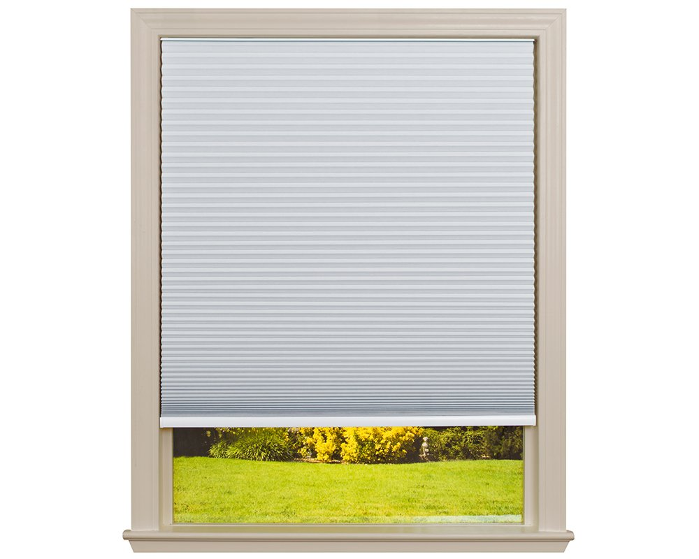 Easy Lift Trim-at-Home Cordless Cellular Blackout Fabric Shade White, 60 in x 64 in, (Fits windows 43''- 60'')