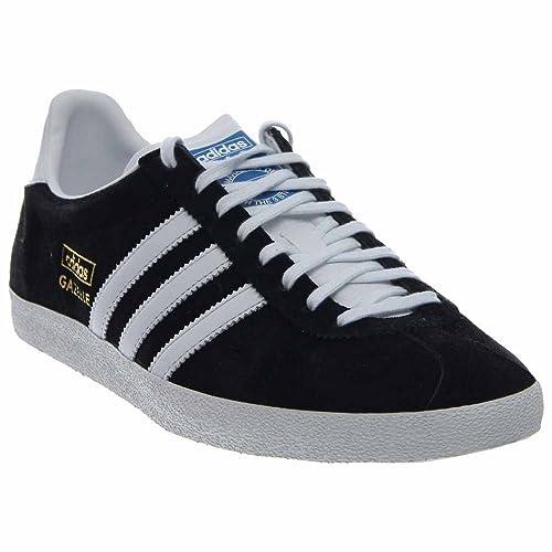 the best attitude 957cc c979b Adidas Originals Gazelle Og moda della scarpa da tennis, nero  bianco   oro,