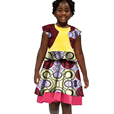 Babygirl S Mini Dresses African Skirts Women Clothing Traditional