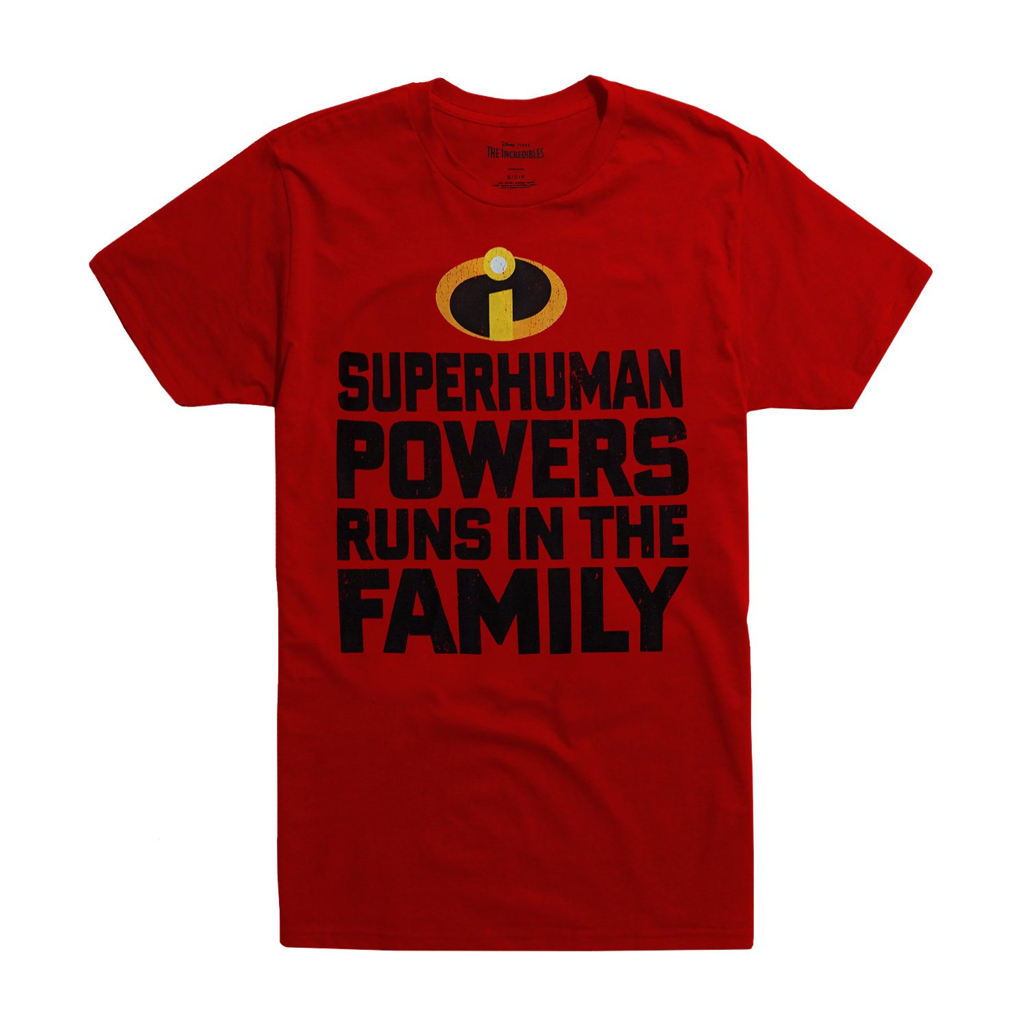 91591b8ad Amazon.com: Mad Engine Incredibles Superhuman Powers Runs in The Family T- Shirt: Clothing
