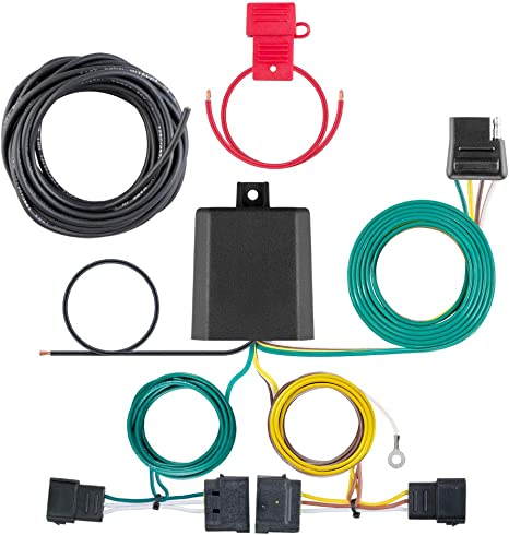curt 56329 vehicle side custom 4 pin trailer wiring harness for select ford, lincoln, mazda, mercury vehicles curt trailer wiring diagram vehicle trailer wiring harness #3
