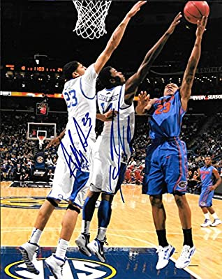 Anthony Davis - Michael Kidd-Gilchrist Autographed Signed Kentucky Wildcats 8 x10 Photo - W/COA - Mint