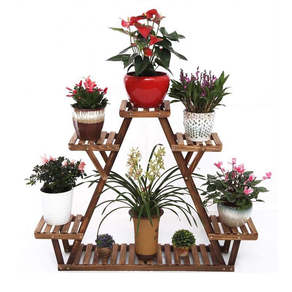 HUAYUAN 5 vasi in Legno Triangolo in Stile succulente portavasi Porta Fiori per Balcone 44.5x9.8x33.5in