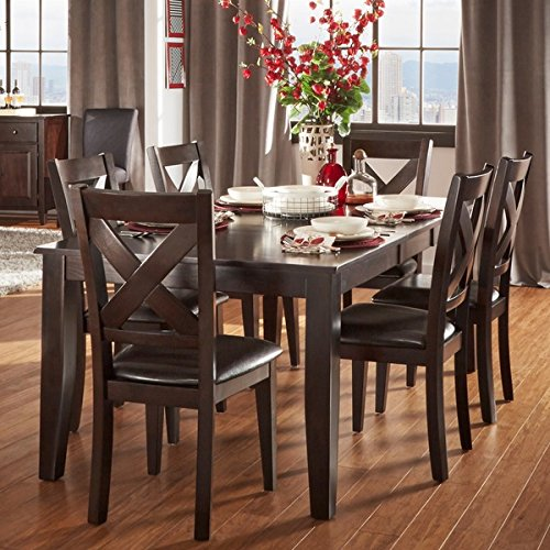 Tribecca Home 7 Piece Dining Room Set Is Crafted From