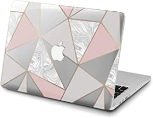 Lex Altern Clear Case for Apple MacBook Air 13 Mac Pro 15 inch Retina 12 11 2020 2019 2018 2017 2016 Luxury Shapes Cover Geometric Marble Protective Abstract Shell Rose Gold Women Print Touch Bar