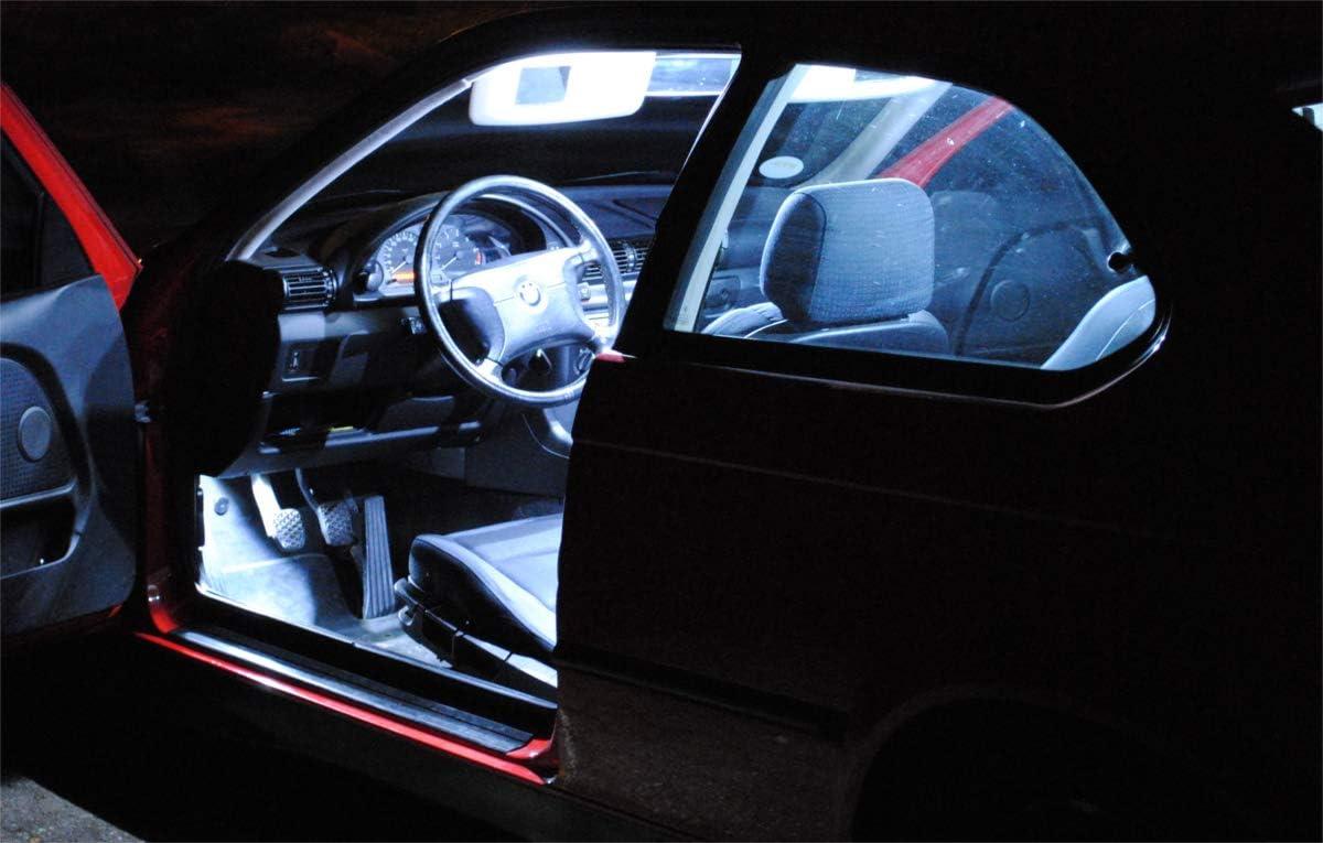 5x bombillas LED iluminaci/ón interior JUEGO l/ámparas de veh/ículo luz de habit/áculo BLANCO de Pro!Carpentis compatible con Astra J a partir de 12//2009