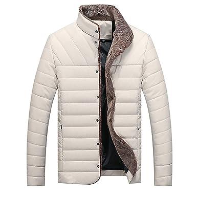 Amazon.com: Chaqueta de invierno para hombre con cuello de ...
