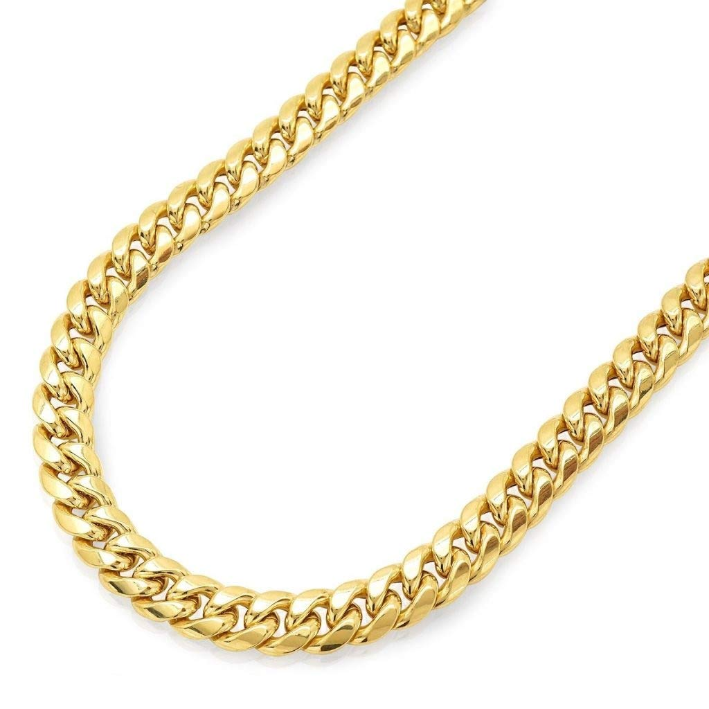Cuban Link Chain For Sale >> Amazon Com 14k Yellow Gold Miami Cuban Link Chain Necklace With Box