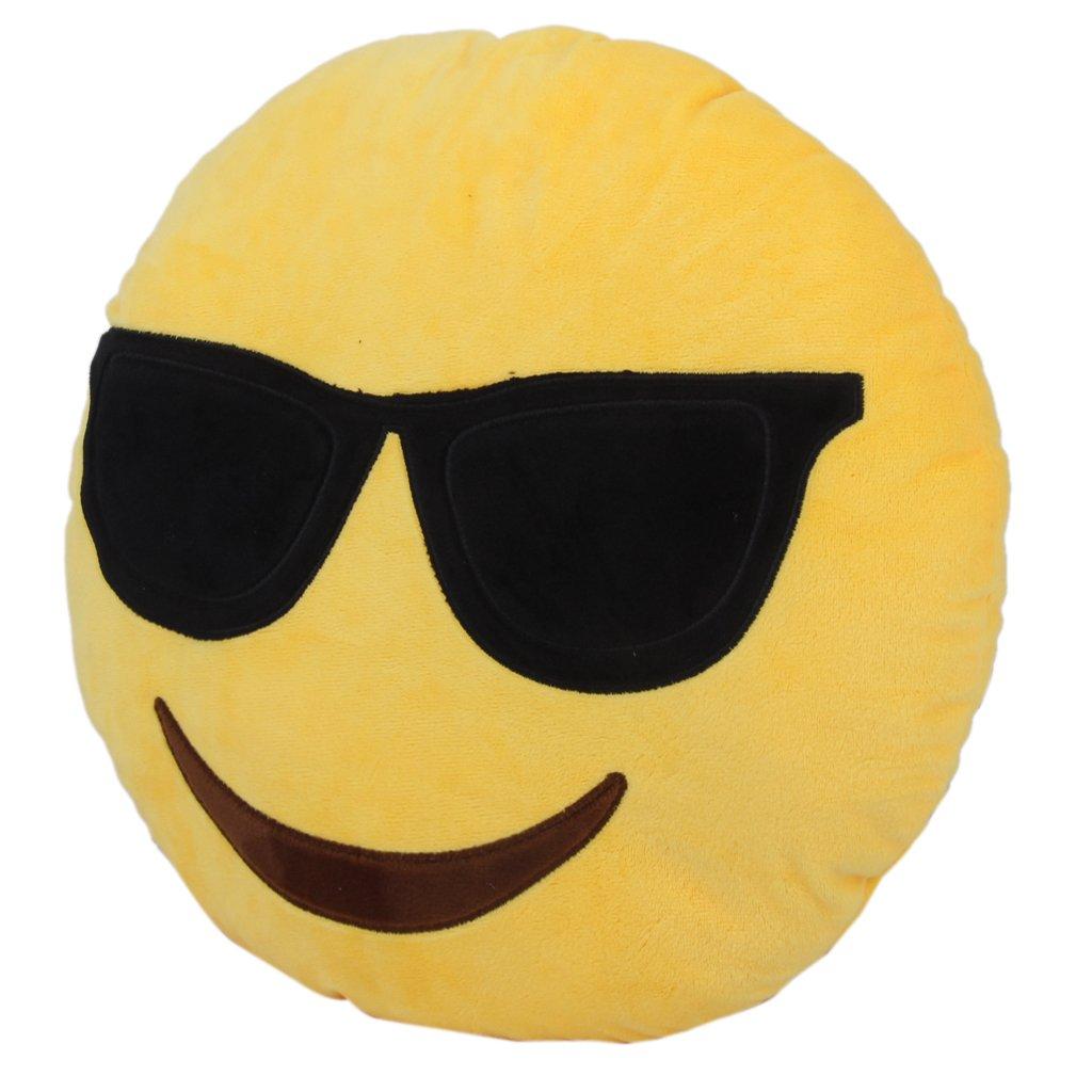 Redonda Emoji Emoticon Almohada Suave de Peluche Felpa ...