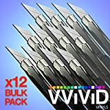 Precision Razor Edge Stainless Steel Utility Cutting Blade x12 Vinyl Wrap Tool Bulk Pack Retractable Locking Breakable