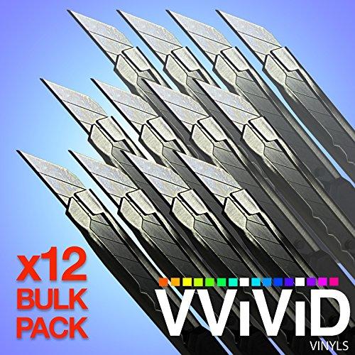 (Precision Razor Edge Stainless Steel Utility Cutting Blade x12 Vinyl Wrap Tool Bulk Pack Retractable Locking Breakable)