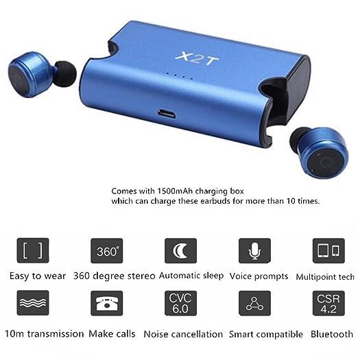 7 opinioni per SETAYO X2T Mini invisibile veramente wireless Bluetooth V4.2 stereo surround