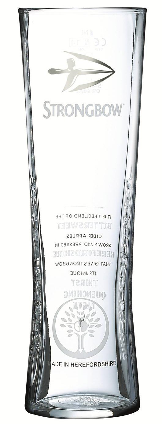 2 Strongbow Pint Glass 20oz CE 568ml (2 Glasses)