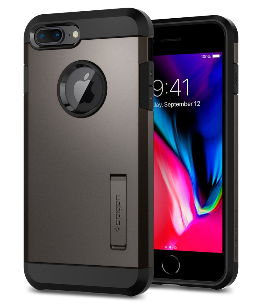 Spigen Tough Armor [2nd Generation] iPhone 8 Plus Case/iPhone 7 Plus Case with Kickstand Air Cushion Technology for Apple iPhone 8 Plus (2017) / iPhone 7 Plus (2016) - 61cMxPH1dsL - Spigen Tough Armor [2nd Generation] iPhone 8 Plus Case/iPhone 7 Plus Case with Kickstand Air Cushion Technology for Apple iPhone 8 Plus (2017) / iPhone 7 Plus (2016)