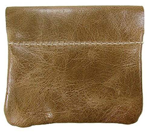 eze Coin Purse change Holder For Men By Nabobb (Distressed Tan) ()