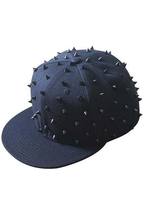 GGsheng Unisex Punk Gothic Horn Nieten Baseball Cap Hip Hop Street Festival Snapback Hut