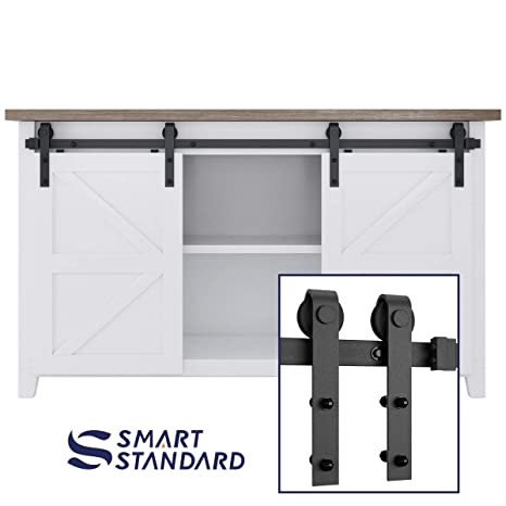 Amazon 5ft Double Door Cabinet Barn Door Hardware Kit Mini