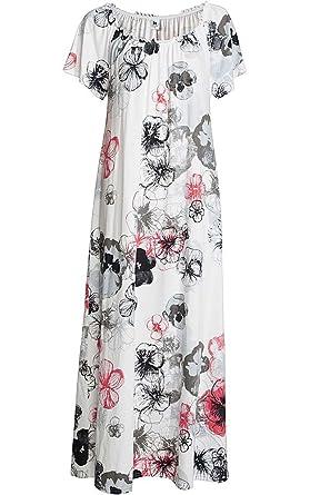 buy online ea817 e3ac6 Nanso Longdress Nachthemd lang 130 cm Viskose Gr. L XL XXL 3XL