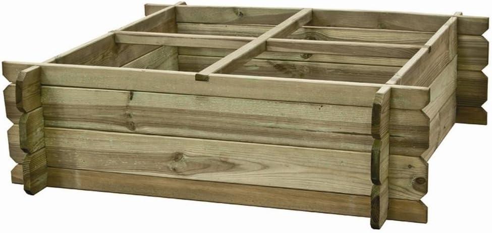 Huerto urbano madera niko 80x80x30: Amazon.es: Hogar