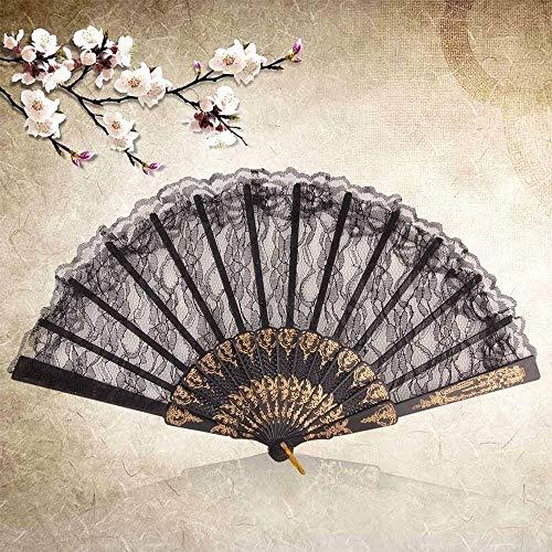 Top Sale Vintage Floral Lace Folding Dancing Wedding Party Decor Hand Fan New