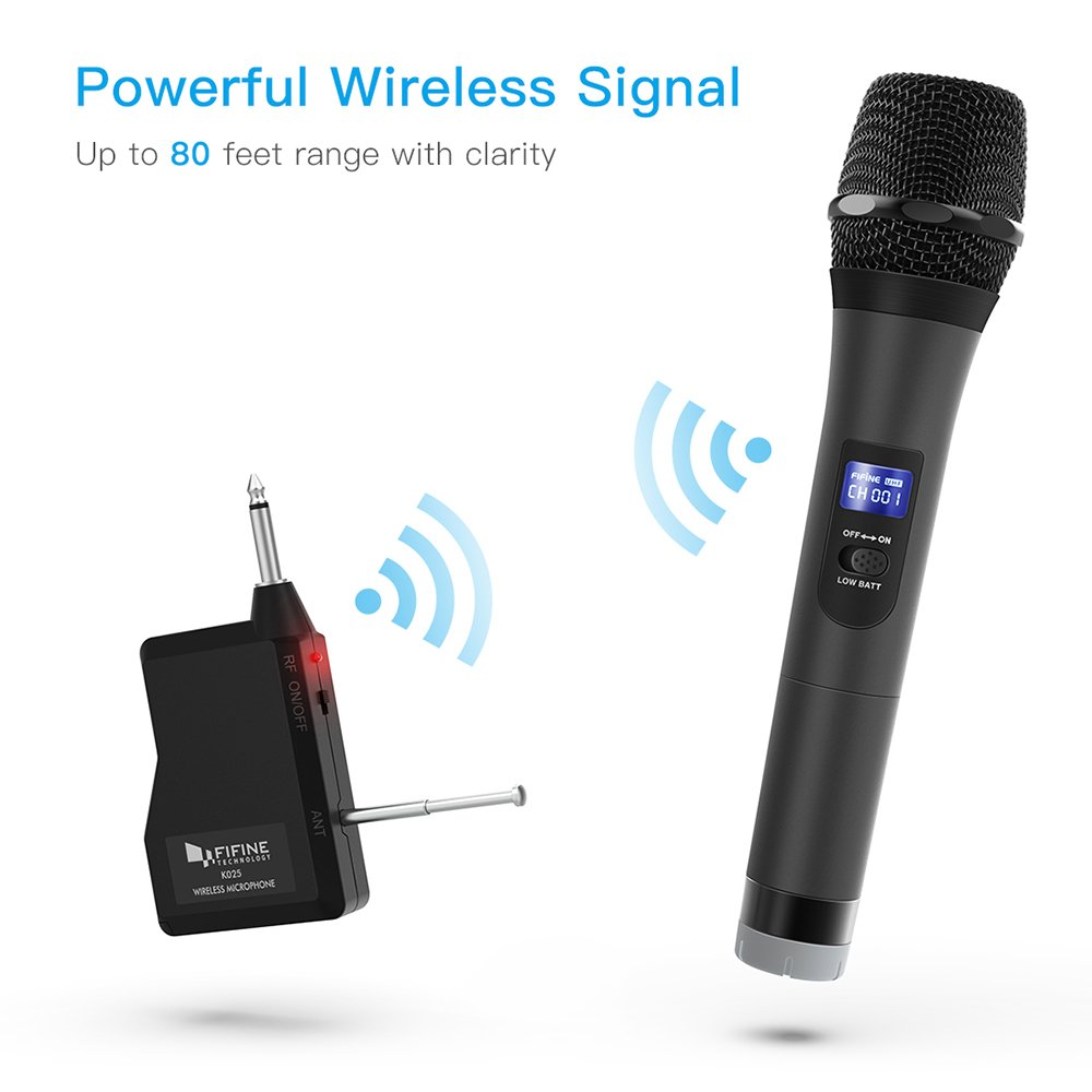 Wireless Handheld Dynamic Microphone : wireless microphone fifine handheld dynamic microphone wireless mic system for karaoke nights ~ Vivirlamusica.com Haus und Dekorationen