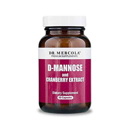 Dr. Mercola D-Mannose and Cranberry Extract Dietary Supplement – 60 Capsules – Supports Urinary Health, Bladder Health and Kidney Health – UTI Prevention Supplement for Women Men