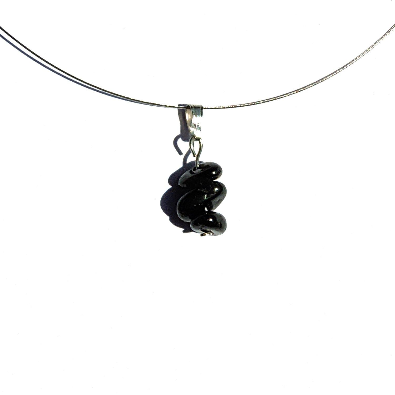 Simple joyería, colgante, turmalina, collar simple, piedra colgante Plata, turmalina negra joya, collar de piedra negro, joya de plata