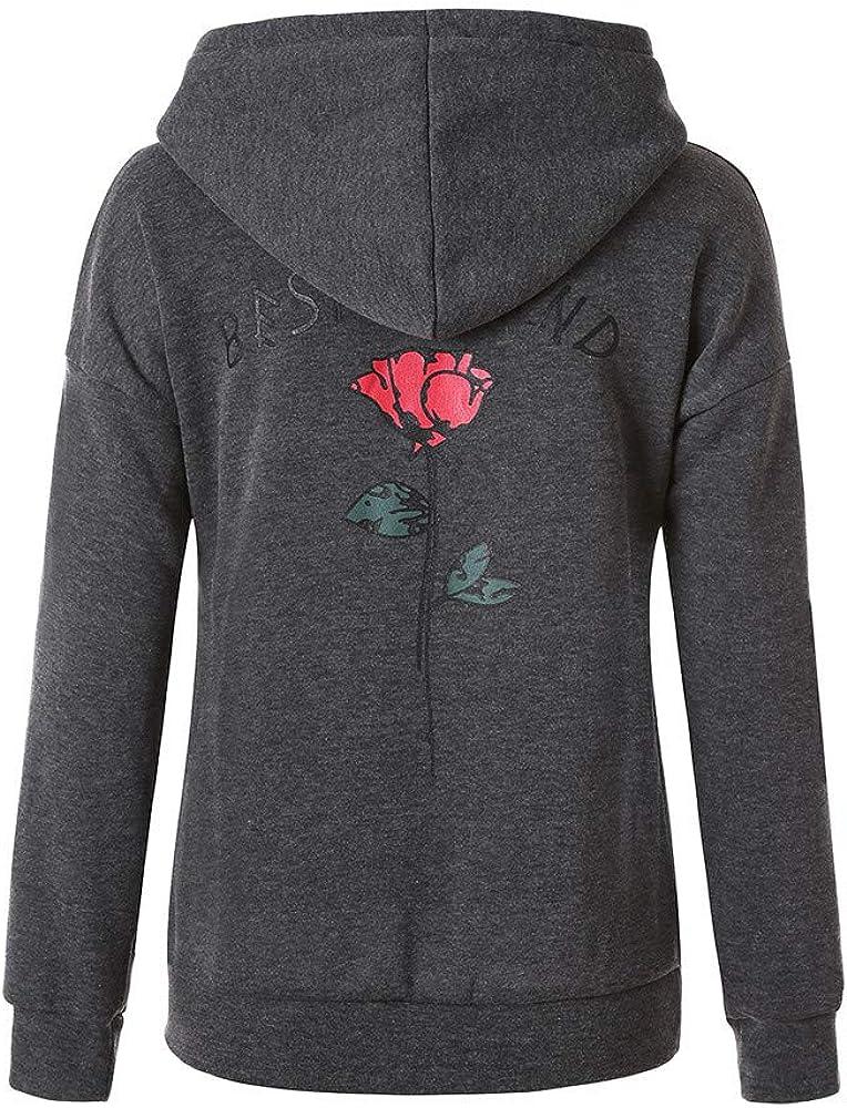 CN/_ Sisters Letter Print Women Long Sleeve Crop Top Hoodies Hooded Sweatshirt