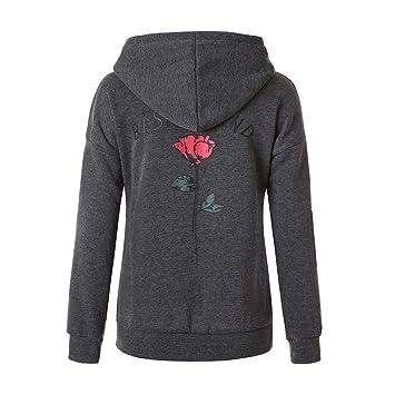Women s Rose Printed Hoodies Fashion Letters - Best Friend Long Sleeve Hoodie  Sweatshirt Hooded Pullover Tops 58517d4d5