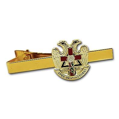 Amazon Com 32nd Degree Rose Croix Cross Scottish Rite Gold Red