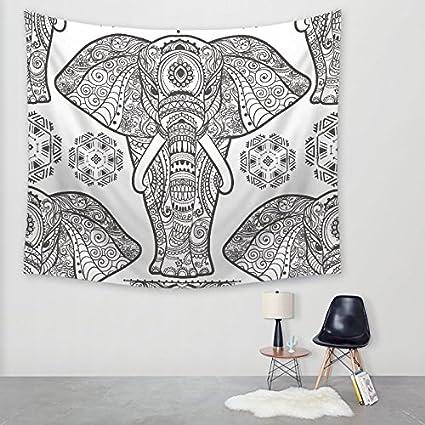 WENBIAOXUE Serie Elefante geométrico tapices tapices impresión Digital manteles Toallas de Playa, g95-7