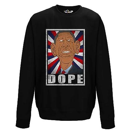 KiarenzaFD Sudadera Cuello Redondo Parodia politici Caricatura Dope Leader Presidente Estados Unidos, Jet Black,