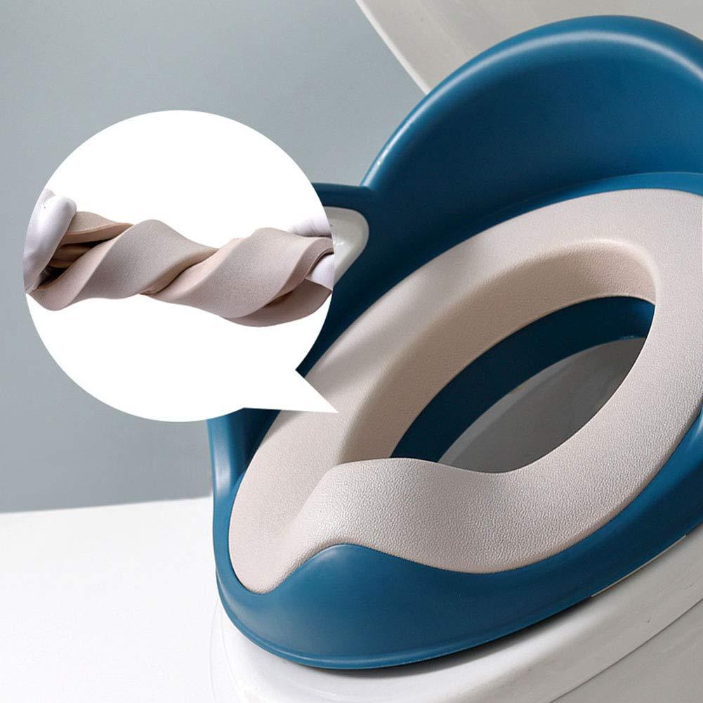 LWYJ Toilettensitz T/öpfchen Toilettensitz Kleinkinder mit Kissen Griff und R/ückenlehne Kleinkinder Toilettensitz f/ür Baby Kinder Kleinkinder
