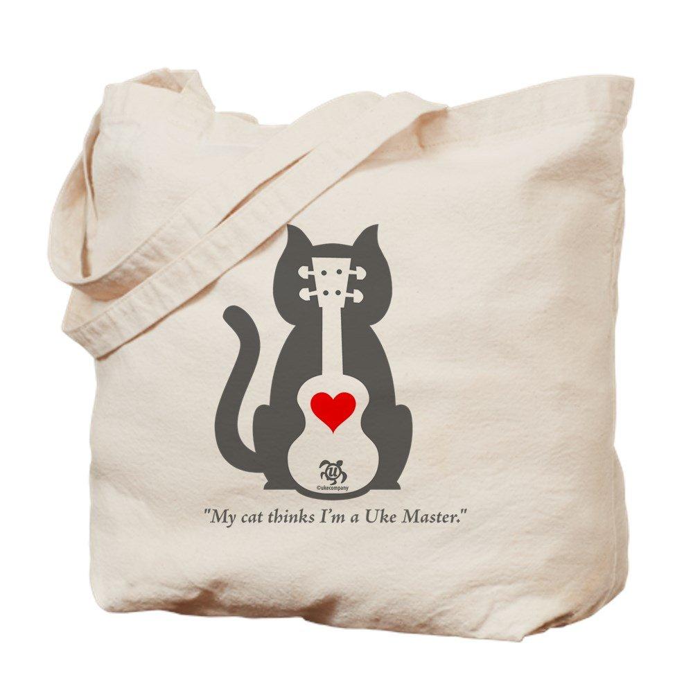 CafePress – Cat Ukeトートバッグ – ナチュラルキャンバストートバッグ、布ショッピングバッグ M ベージュ 07846274006893C B00ZN4X668  M