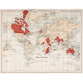 Amazon framed map of the commonwealth of nations or the british map of the world showing in red the extent of the british empire in 1901 poster print 16 x 12 gumiabroncs Choice Image