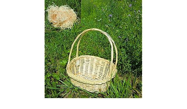 Estuche con cesta de lana de madera: Amazon.es: Hogar